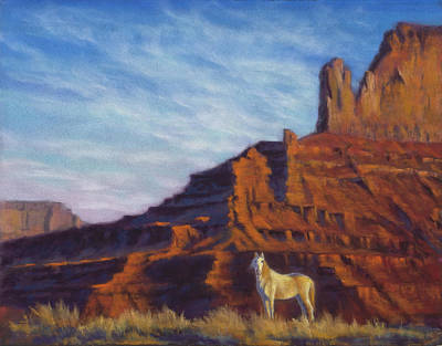 Mustang Ridge Monument Valley Az Art Print