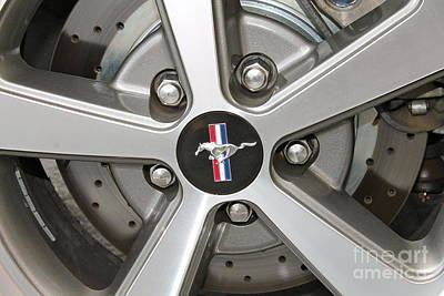 Photograph - Mustang Rims by Pamela Walrath