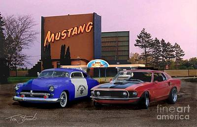 Mustang Way  Art Print by Tom Straub