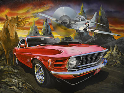 Painting - Mustangs 3 by Richard Mordecki