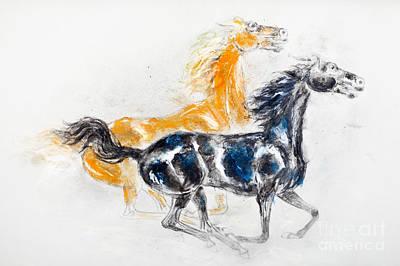 Mustangs Art Print by Kurt Tessmann