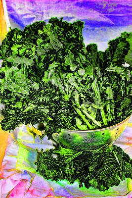 Cafeart Digital Art - Mustard Greens by Cathy Anderson
