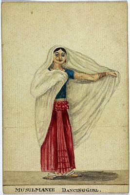 Musulmanee Dancing-girl Print by British Library