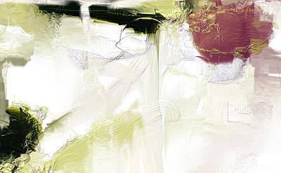 Muted Clay White Art Print