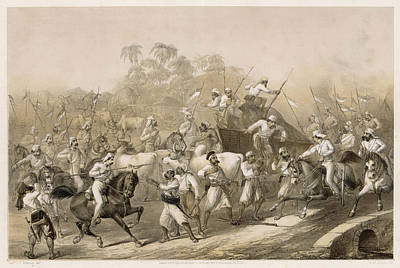 Mutineers Surprised By Her  Majesty's Art Print by Mary Evans Picture Library