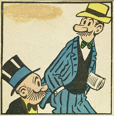 Mongrel Painting - Mutt And Jeff, 1907 by Granger