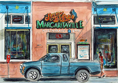Buffet Painting - Meet Me At Margaritaville by Tim Ross