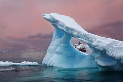 Photograph - Mv Fram Through The Iceberg by June Jacobsen