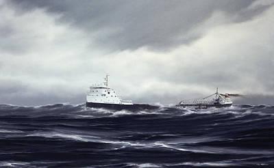 mv Tadoussac Print by Captain Bud Robinson