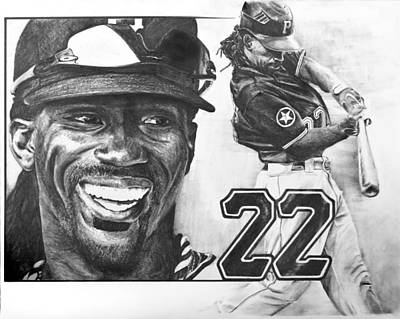 Andrew Mccutchen Drawing - Mvp Andrew Mccutchen by Susan Rosa