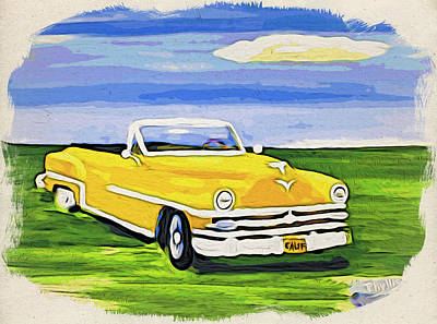 Painting - My 1953 Chrysler Convertible by Phyllis Kaltenbach