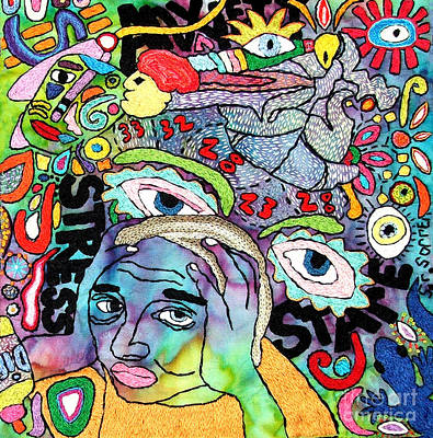 My Aching Head Art Print by Susan Sorrell