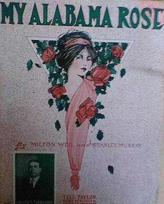 My Alabama Rose  Art Print by Jeanette  Malinchok