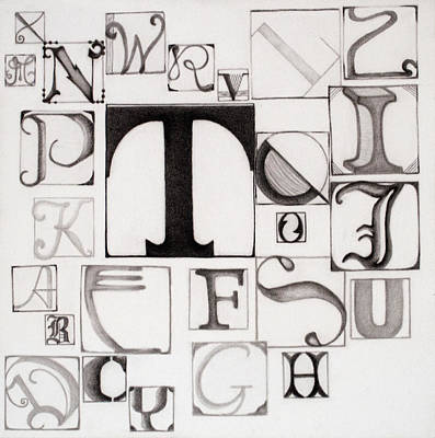 Drawing - My Alphabet by Teri Schuster