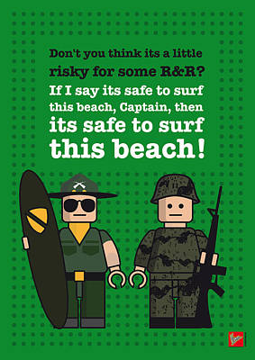 Vietnam War Digital Art - My Apocalypse Now Lego Dialogue Poster by Chungkong Art