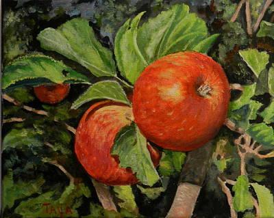 Naturmort Painting - My Apple Tree by Taya Winitsky