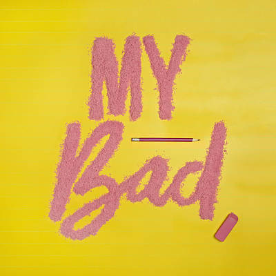 Photograph - My Bad Spelled Out In Eraser Crumbs by Juj Winn