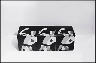 Painting - My Bauhaus Harlequin by Charles Stuart