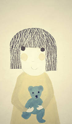 My Bear And Me Art Print by Katy McFall