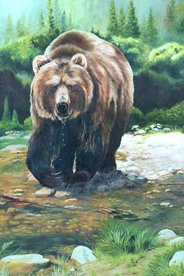 My Bed Painting - My Bear Of A Painting by Lori Brackett
