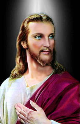 Digital Art - My Beautiful Jesus 2 by Karen Showell