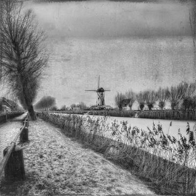 Windmill Photograph - My Beloved Flat Country: Damme by Yvette Depaepe