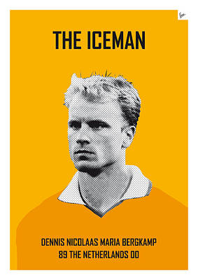 Digital Art - My Bergkamp Soccer Legend Poster by Chungkong Art