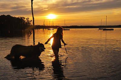 Digital Art - My Best Friend In The Water by Angel Cher