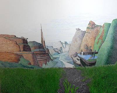My Bigger Back Yard Art Print by A  Robert Malcom
