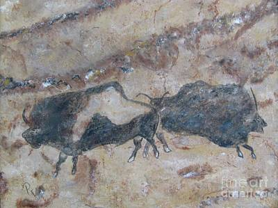 Painting - My Bison Lacaze Cave Painting by Pat Craft