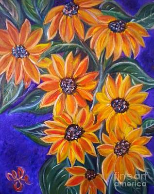Painting - My Black-eye Susans by Yesi Casanova