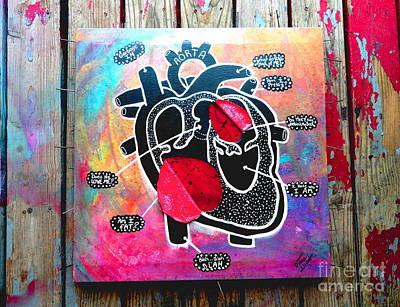 My Black Heart Art Print by Diana Almand