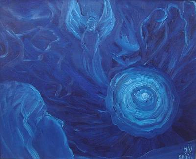 Painting - My Blue Dream by Nina Mitkova
