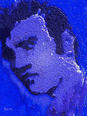 Painting - My Blue Elvis by Robert Margetts