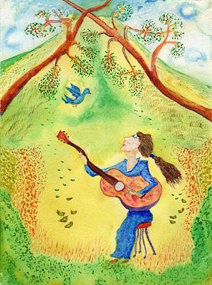 Painting - My Bluebird Sings by Jim Taylor