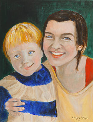 Painting - My Boy - Painting by Veronica Rickard