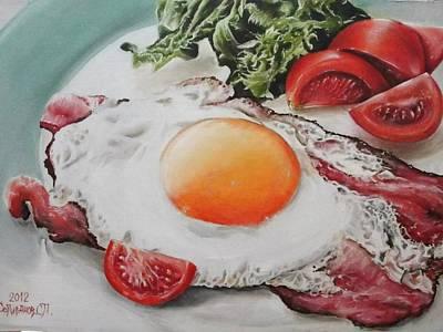Painting - My Breakfast  by Sergey Selivanov