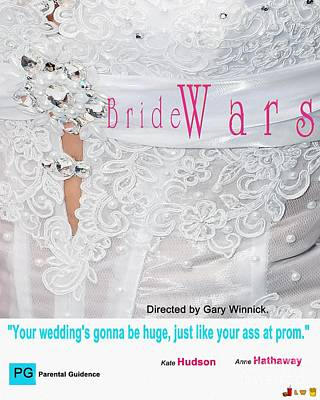 Digital Art - My Bride Wars Movie Poster by Liane Wright