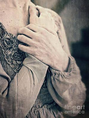 My Broken Heart - Victorian Romance Art Print by Edward Fielding