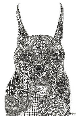 Drawing - My Buddy - Boxer by Dianne Ferrer