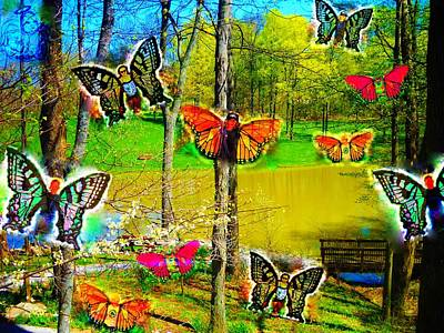 My Butterflies Art Print by Jenn Beck