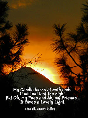 Photograph - My Candle by Jacqueline  DiAnne Wasson