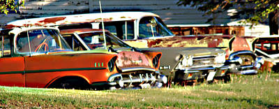 Art Print featuring the digital art My Cars by Cathy Anderson