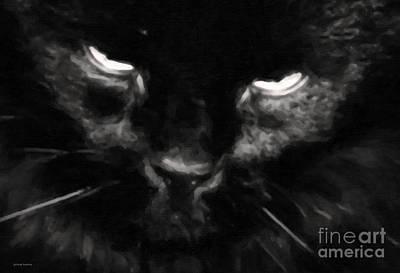 My Cat Art Print by Gerlinde Keating - Galleria GK Keating Associates Inc