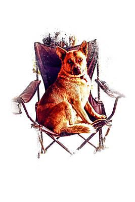 Cattle Dog Digital Art - My Chair by Janice OConnor