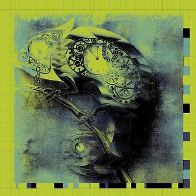 Chameleon Digital Art - Chameleon - Lime - 01b02 by Variance Collections