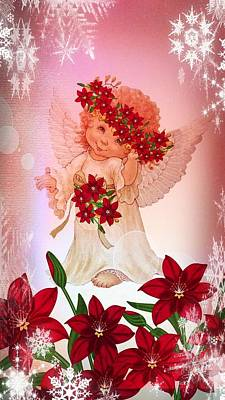 Digital Art - My Christmas Angel by Maria Urso