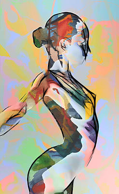 My Colorful Ballerina  Print by Steve K