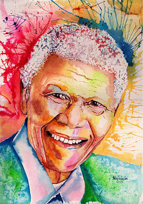 Nobel Peace Prize Painting - My Colors For Mandela by Isabel Salvador