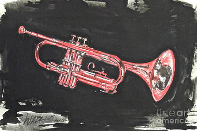 Painting - My Cousin's Trumpet by Wade Hampton